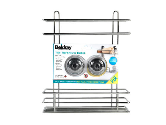 Beldray LA036230 Two Tier Suction Shower Basket Thumbnail 4