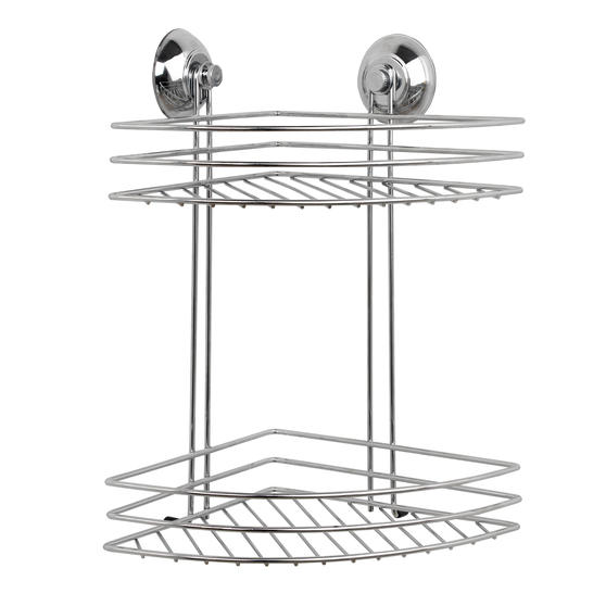 Beldray Two Tier Corner Suction Shower Basket Thumbnail 1