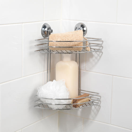 Beldray Two Tier Corner Suction Shower Basket Thumbnail 3