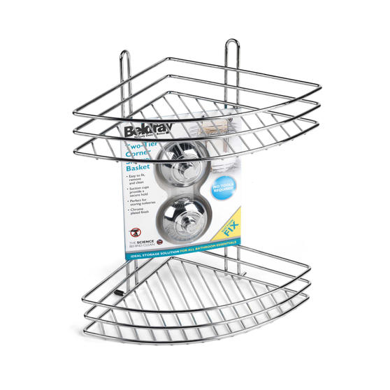 Beldray Two Tier Corner Suction Shower Basket Thumbnail 4