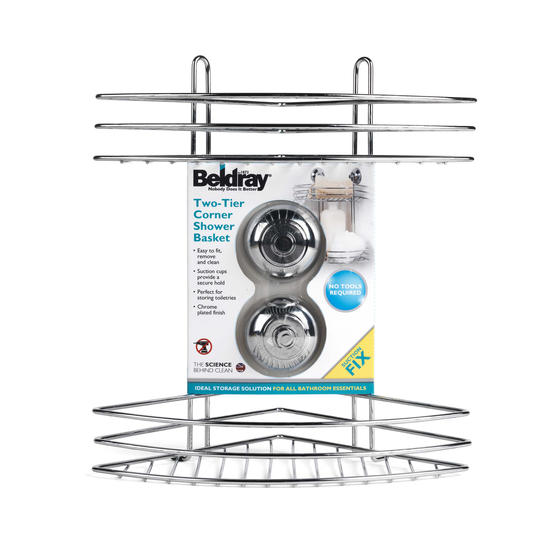 Beldray Two Tier Corner Suction Shower Basket Thumbnail 5