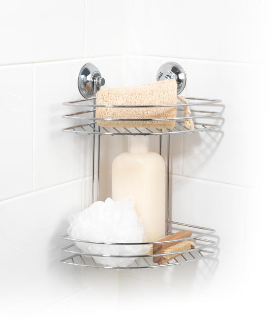 Beldray Two Tier Corner Suction Shower Basket Thumbnail 2
