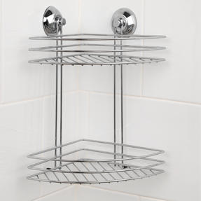 Beldray LA036254 Two Tier Corner Suction Shower Basket Thumbnail 1
