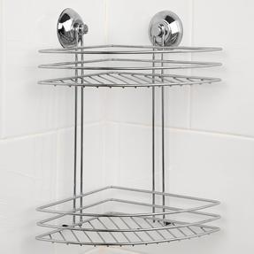 Beldray LA036254 Two Tier Corner Suction Shower Basket Thumbnail 2