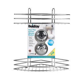 Beldray LA036254 Two Tier Corner Suction Shower Basket Thumbnail 5