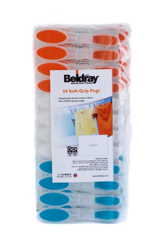 Beldray Soft Grip Pegs 24 Pack Thumbnail 1