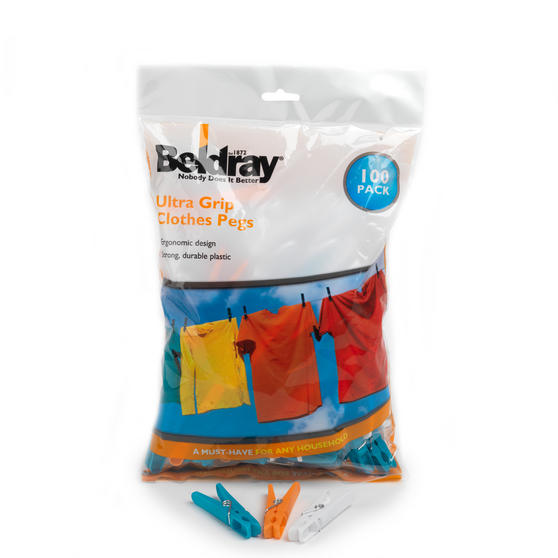 Beldray Soft Grip Pegs 100 Pack
