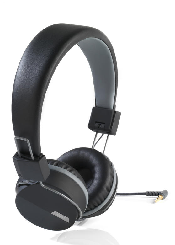Intempo Black And Grey Attis Headphones Headphones Intempo