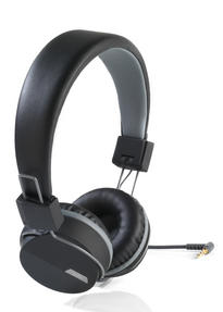Intempo EE1081BG Black and Grey Attis Over-Ear Headphones Thumbnail 2
