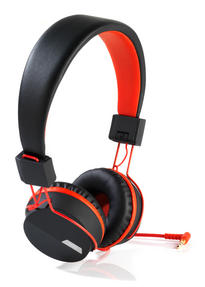 Intempo EE1081BR Black and Red Attis Over-Ear Headphones