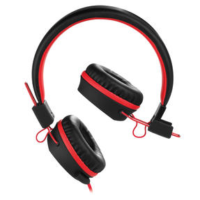 Intempo EE1081BR Black and Red Attis Over-Ear Headphones Thumbnail 2