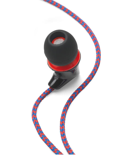 Intempo EE1213RED Red Flex Fabric Cable Earphones