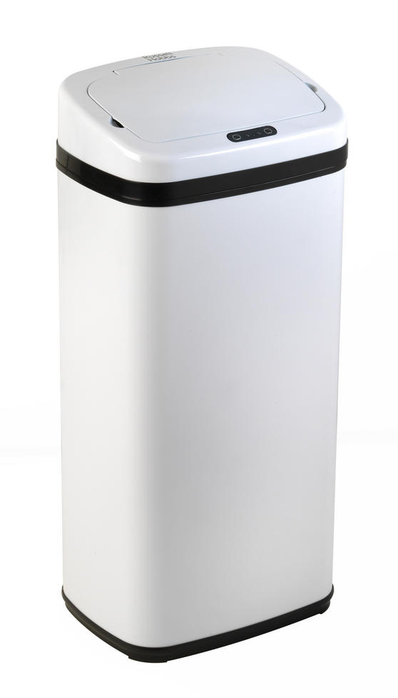 Russell Hobbs BW04513W Square Hands Free Motion Sensor Dustbin/Kitchen Bin, 50 Litre, White