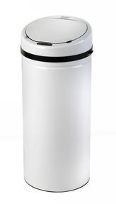 Russell Hobbs BW04514W Round Hands Free Motion Sensor Dustbin/Kitchen Bin, 50 Litre, White Thumbnail 1