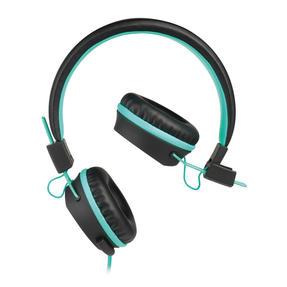 Intempo EE1081BA Black and Aqua Green Attis Over-Ear Headphones Thumbnail 2