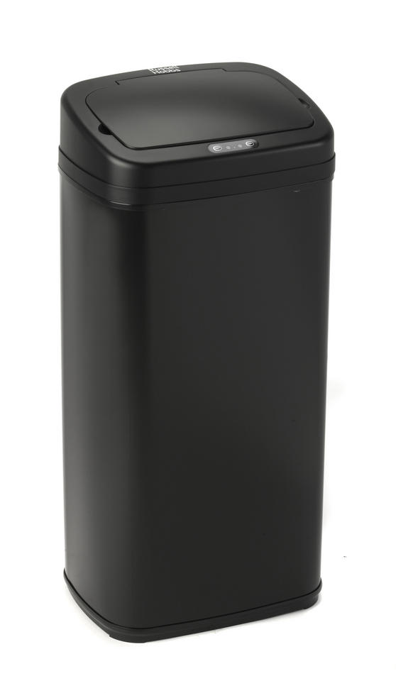 Russell Hobbs BW04513 Square Hands Free Motion Sensor Dustbin/Kitchen Bin, 50 Litre, Black