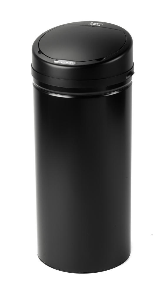 Russell Hobbs BW04514 Round Hands Free Motion Sensor Dustbin/Kitchen Bin, 50 Litre, Black