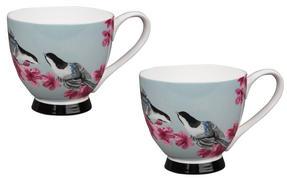 Portobello CM02304 Sandringham Kazumi Bone China Mug, Set of 2