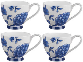 Portobello CM02307 Sandringham Perla Bone China Mug, Set of 4