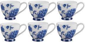 Portobello CM02307 Sandringham Perla Bone China Mug, Set of 6