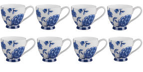 Portobello CM02307 Sandringham Perla Bone China Mug, Set of 8