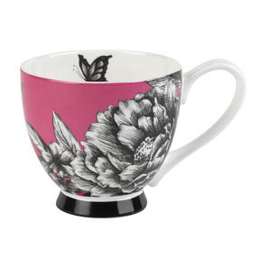 Portobello CM02311 Sandringham Zen Garden Pink Bone China Mug Set of 2