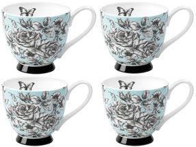 Portobello CM03396 Sandringham English Country Garden Bone China Mug Set of 4 Thumbnail 1