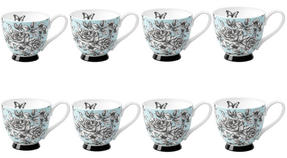 Portobello CM03396 Sandringham English Country Garden Bone China Mug Set of 8 Thumbnail 1