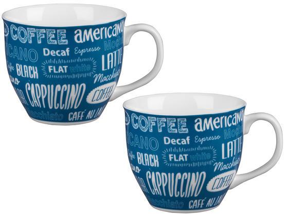 Cambridge CM03612 Oxford Coffee Shop Blue Fine China Mug Set of 2