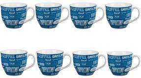 Cambridge CM03612 Oxford Coffee Shop Blue Fine China Mug Set of 8 Thumbnail 1