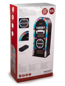 Intempo Brown Large Bluetooth Jukebox With LED Flashing Lights Thumbnail 3