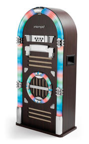 Intempo Brown Large Bluetooth Jukebox With LED Flashing Lights Thumbnail 4
