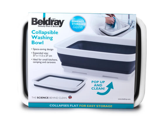 Beldray Grey Collapsible Rectangular Bowl Thumbnail 3