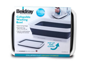 Beldray LA030191 Grey Collapsible Rectangular Bowl Thumbnail 3