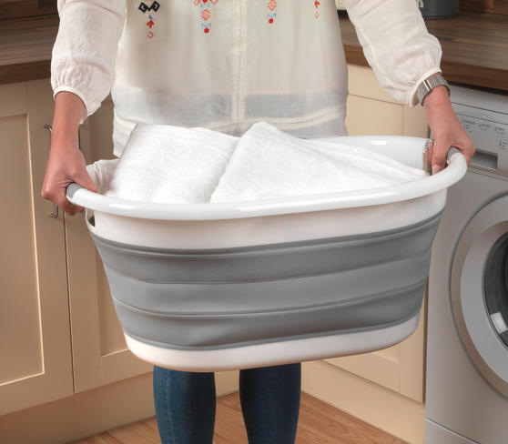 Beldray Oval Collapsible Laundry Basket Thumbnail 4