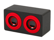 Intempo EE0996 Black and Red Wooden Mini Blaster Thumbnail 2