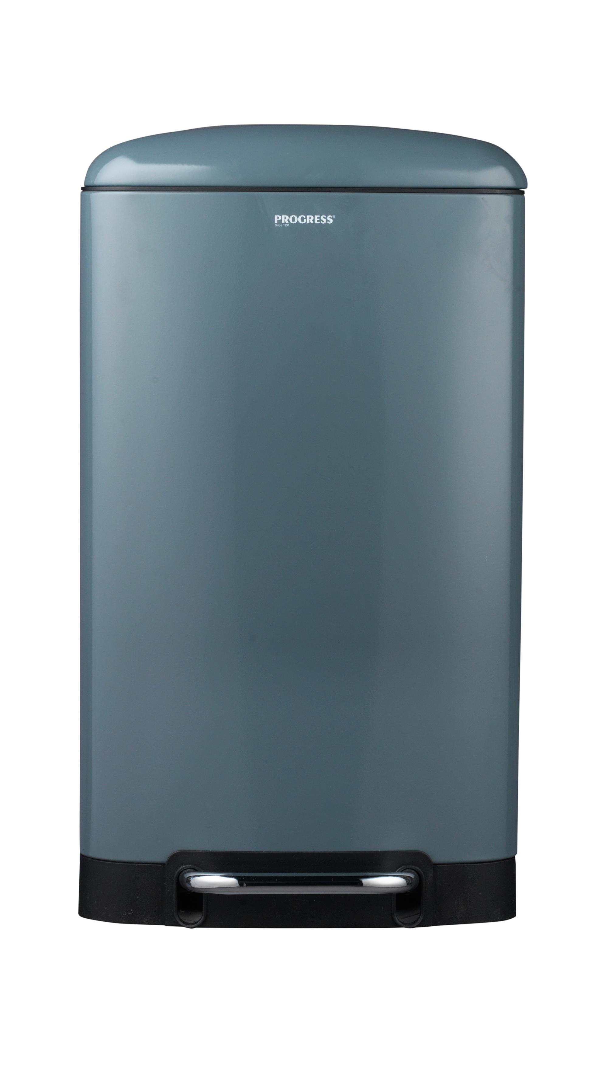 Grey 30 Litre Rectangular Pedal Bin