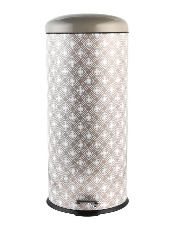 Salter BW05077 Natural Lattice 30 Litre Soft Closing Lid Pedal Bin
