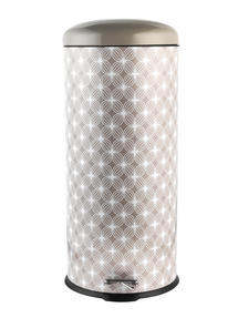 Salter BW05077 Natural Lattice 30 Litre Soft Closing Lid Pedal Bin Thumbnail 1