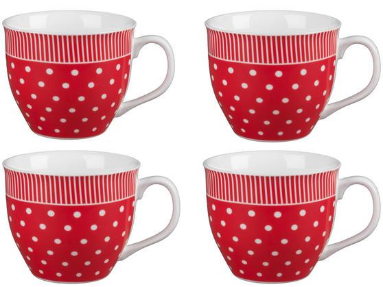 Cambridge CM03616 Oxford Liberty Red Fine China Mug Set of 4