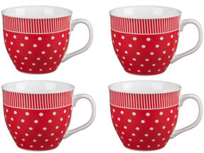 Cambridge CM03616 Oxford Liberty Red Fine China Mug Set of 4 Thumbnail 1