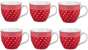 Cambridge CM03616 Oxford Liberty Red Fine China Mug Set of 6 Thumbnail 1