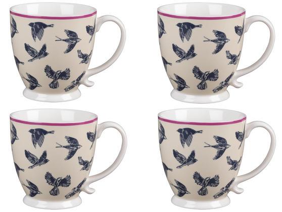 Cambridge CM03619 Kensington Avairy Fine China Mug Set of 4