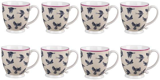 Cambridge CM03619 Kensington Avairy Fine China Mug Set of 8
