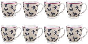 Cambridge CM03619 Kensington Avairy Fine China Mug Set of 8 Thumbnail 1