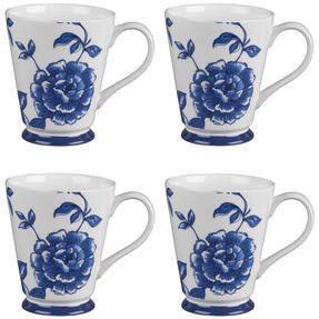 Portobello CM03738 Buckingham Perla Bone China Mug Set of 4 Thumbnail 1