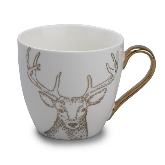 Cambridge CM05033 Kendal Gold Reindeer Fine China Mug
