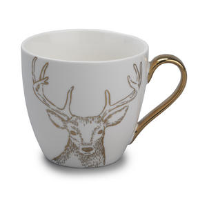 Cambridge CM05033 Kendal Gold Reindeer Fine China Mug Thumbnail 1