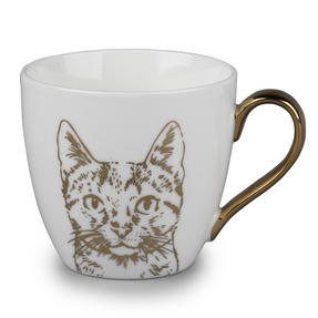 Cambridge CM05044 Kendal Gold Cat Fine China Mug Thumbnail 1