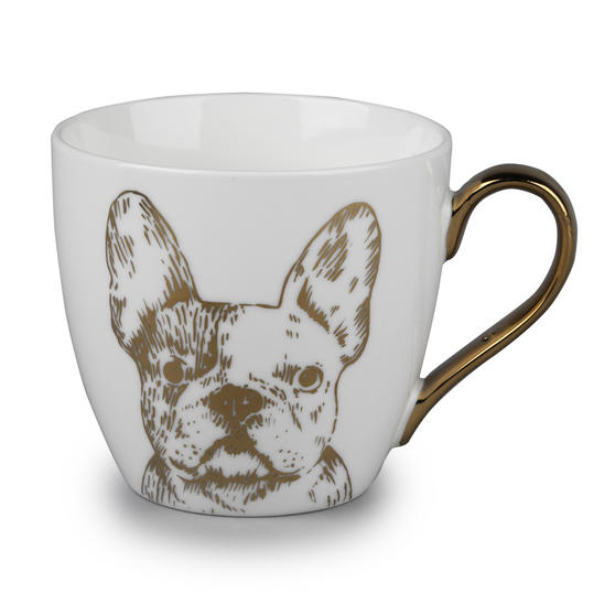 Cambridge CM05045 Kendal Gold Bulldog Fine China Mug
